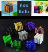 Sihirli Renkli Manyetik Toplar Neodyum Mıknatıs Küp Bilye 216 Ade