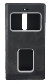 Nokia 5 Gizli Mıknatıslı Pencereli Magnum Kılıf Siyah