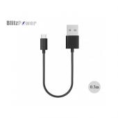 Blitzpower 2.1a Kısa Type C Usb Data Şarj Kablosu 0,3 Metre