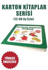 Meyveler Sebzeler Besinler Eğitici Öğretici Karton Kitaplar