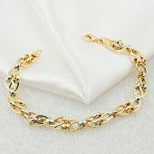 Favori Gold Halka 14 Ayar Altın Bileklik