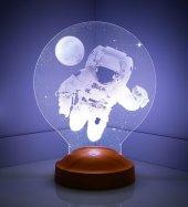Astronot 3 Boyutlu Led Lamba