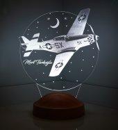 3d Led Lamba Kişiye Özel Uçak