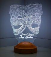 Kişiye Özel 3 Boyutlu Maske Led Lamba