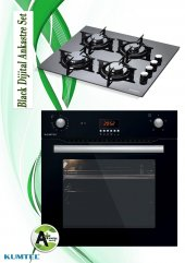 Kumtel 2li Dijital Siyah Ankastre Set(A6 Sf2(Dt)+ko 40tahdf)