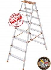 7+7 Çift Çıkışlı Alüminyum Merdiven