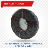 Emnıyet 4+1 100 Metre 2x0,22mm + 2x0,50mm Cctv Bakır Kablo Emn Cctv 41 100m