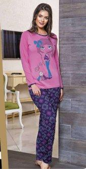 Lady Desenli Bayan Pijama Takımı
