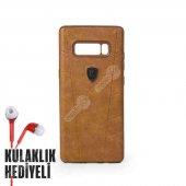 Puloka Samsung Galaxy Note 8 Exquisite Series Deri Kılıf Kahverengi