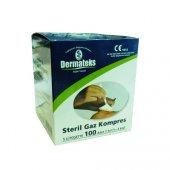 Steril Gazlı Bez Gaz Kompres 7.5 * 7.5 Cm 4 Kat 100 Lü Dermateks