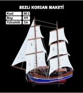 Ahşap Bezli Korsan Gemi Modeli
