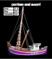 Ahşap Karadeniz Çektirme Gemi Maketi