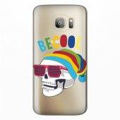 Samsung Galaxy S7 Edge Kılıf Desenli Silikon Kap Arka Koruyucu İnce 0.2mm Kapak Hopi4569