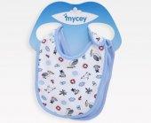 Mycey Bebe Önlüğü 2 Li Set Mavi