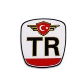 Tr Reflektif Araba Oto Sticker (9cm * 10cm)