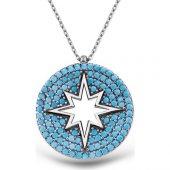 Alışverişrengi Gümüş Kuzey Yıldızı Kolye Al 2110073