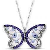 Alışverişrengi Gümüş Kelebek Kolye Al2110082