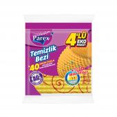 Parex Dalgalı Temizlik Bezi 4 Lü Eko Paket