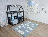 Mavi Bulutlu Çocuk Odası Halısı