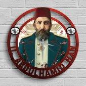 Sultan 2. Abdülhamid Han Ahşap Tablo Duvar Saati Model B3
