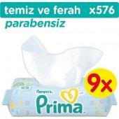 Prima Islak Havlu Temiz Ve Ferah 9&#039 Lu Fırsat Paketi (576 Yaprak)