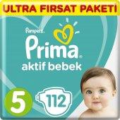 Prima Bebek Bezi Aktif Bebek 5 Beden Junior Ultra Fırsat Paketi112 Adet