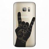 Samsung Galaxy S7 Kılıf Desenli Silikon Kap Arka Koruyucu İnce 0.2mm Kapak Hopi3678