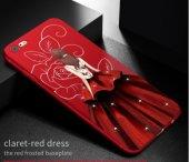 ı Phone 7 Plus 8 Plus Red Wedding Dress Telefon Kılıfı