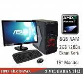 Amd A4 İşlemci 8gb Ram Usb 3.0 2gb Ekran Kartı 19 İnç Led Monitorlü Bilgisayar