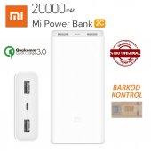Xiaomi Mi Powerbank 3.nesil 20000 Mah 2c Taşınabilir Hızlı Şarj
