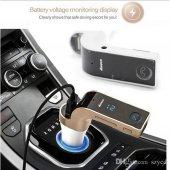 Kablosuz Bluetooth Fm Verici G7+aux Modülatör Araç Kiti Mp3 Çalar