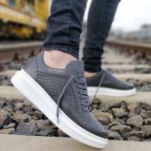 Wagoon Gri Cilt Bağcıklı Erkek Günlük Ayakkabı