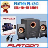 Platoon Pl 4242 Usb Girişli 2+1 Ses Sistemi