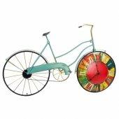 Dev Boyutlu Vintage Tasarım Bisiklet Dekoratif Duvar Saati