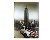 Dekoratif Vintage Metal Pano Wtc Newyork 20x30
