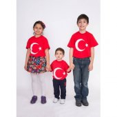 Türk Bayraklı Çocuk Tişört 5 12 Yaş Arası
