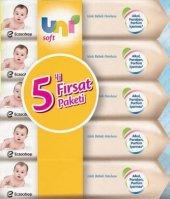 Uni Soft Islak Bebek Havlusu 5 Li Fırsat Paketi 56 Lı