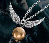 Harry Potter Gümüş Renk Altın Kuş Kolye