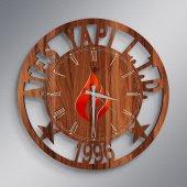 Firmalara Özel Logolu Ahşap Promosyon Duvar Saati (10 50 100 Adet