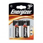 Energizer (D54 7324) Power Alkalin Base Alkalin C Orta Boy Pil 2li Blister