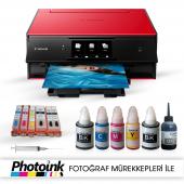 Photoink Mürekkepli Canon Pixma Ts9050 Yazıcı Ve Dolan Kartuş Sis