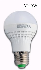 Megatech 5w Beyaz Led Ampul 350 Lümen Beyaz Işık Energy Saving