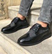 Gnx Rugan Siyah Renk Desenli Günlük Ayakkabı