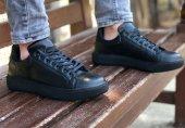 Conteyner 387 Nova Siyah Renk Günlük Ayakkabı