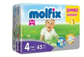 Molfix Maxi 4 No Bebek Bezi Jumbo Paket 7 14 Kg 45 Adet
