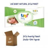 Uni Baby Natural Islak Havlu Mendil 24lü