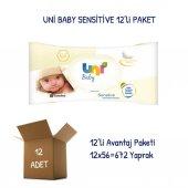 Uni Baby Sensitive Islak Havlu Mendil 12li
