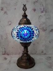 Büyük Boy 36 Cm Mozaik Lamba,masaüstü Lamba,otantik