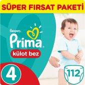 Prima Pants Külot Bebek Bezi 4 Beden Maxi Süper Fırsat Paketi 112 Adet