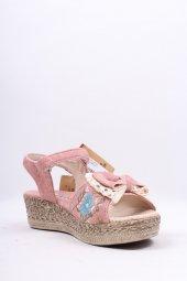 966.z.701 Kız Çocuk Desenli Sandalet